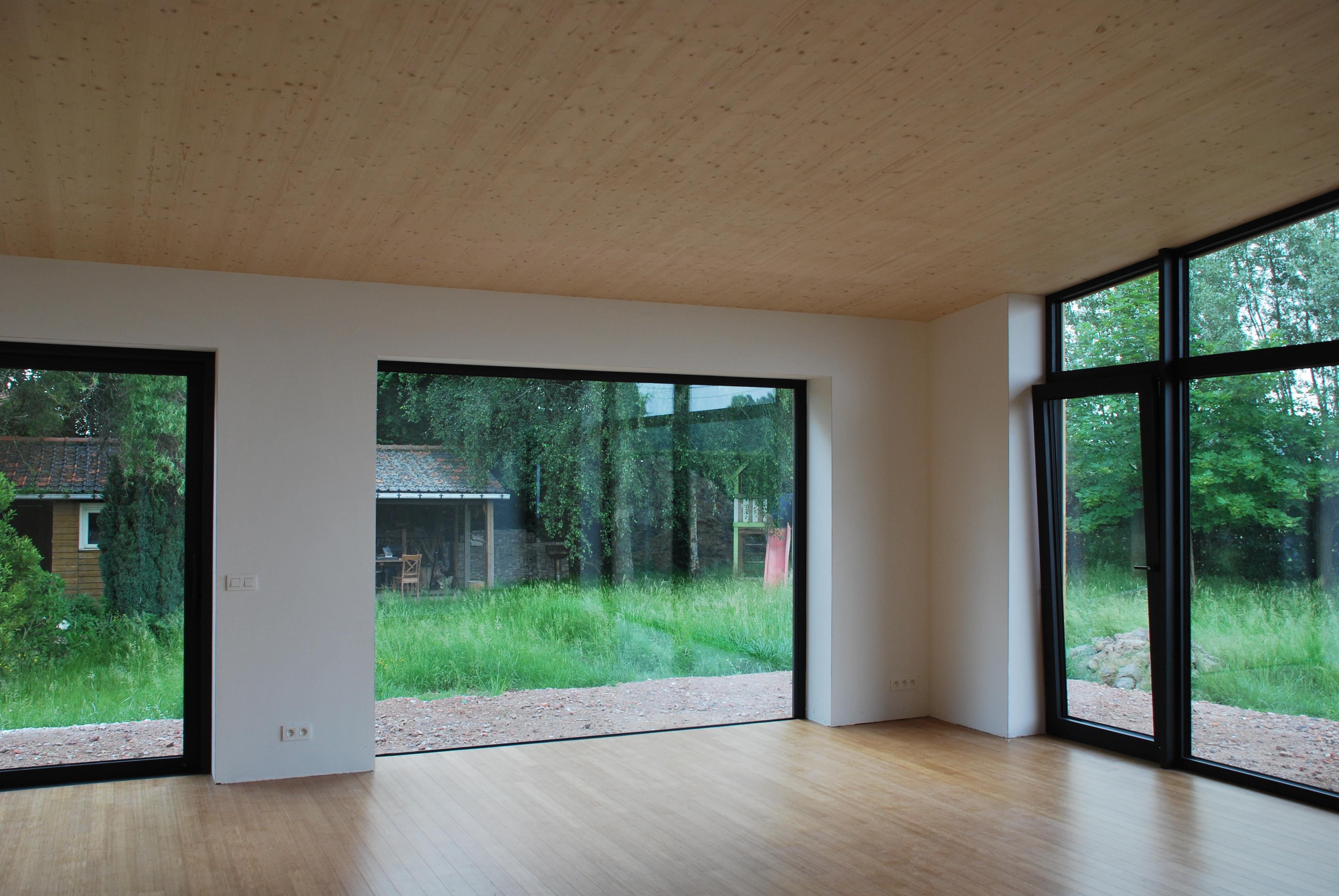 Vlier Plafondafwerking Uit Binderholtzbeplating