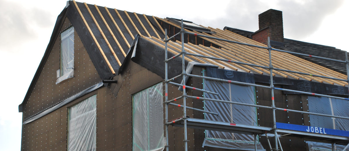 Nieuwbouwwoning in houtskeletbouw te Asse